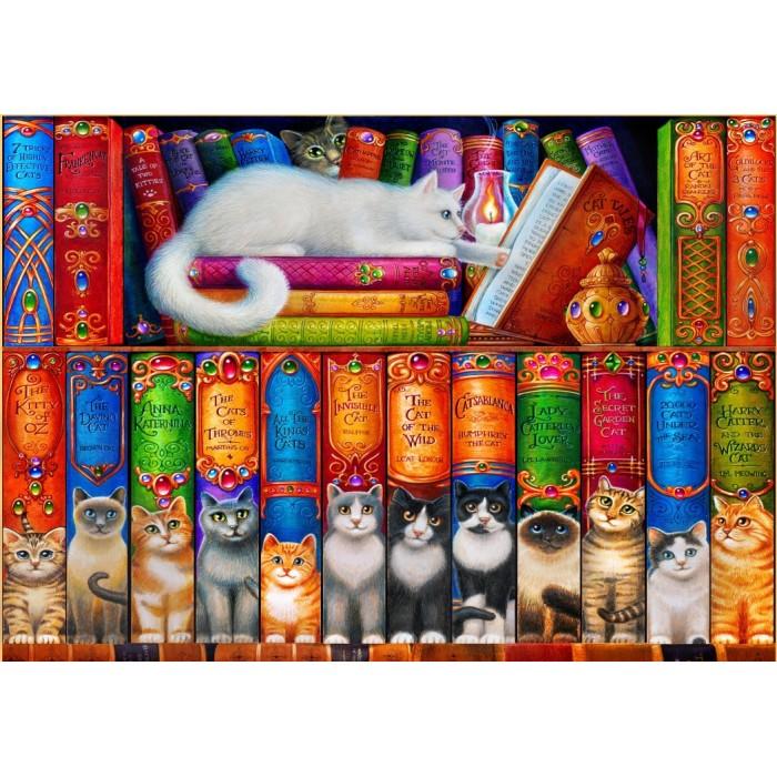 Cat Bookshelf Puzzle 1000 pieces