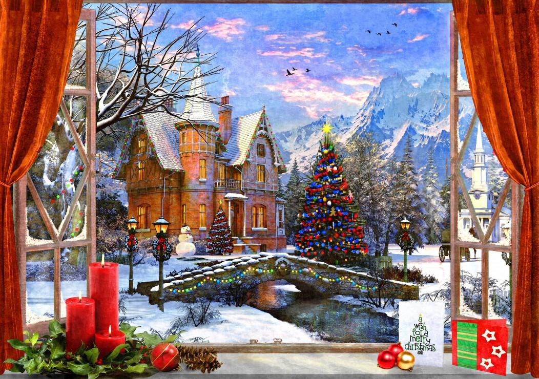 Christmas Mountain View