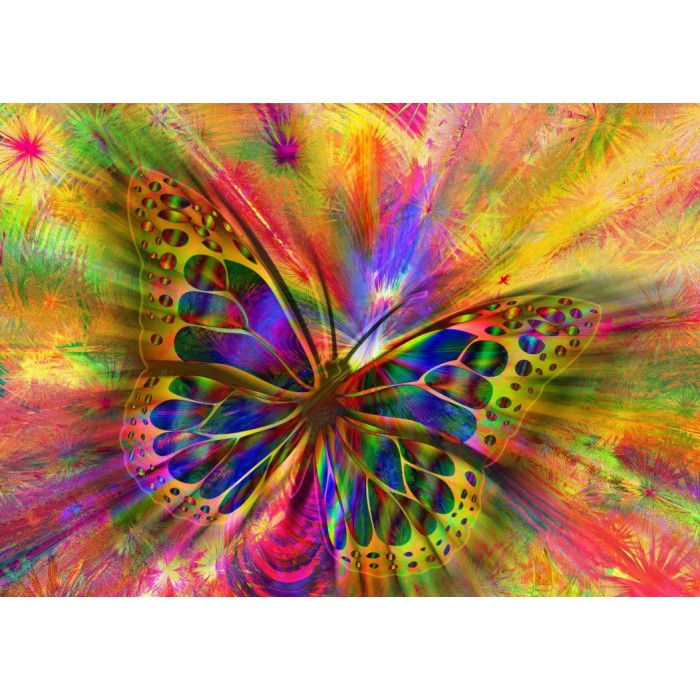 Colorful Butterfly Puzzle 1500 pieces