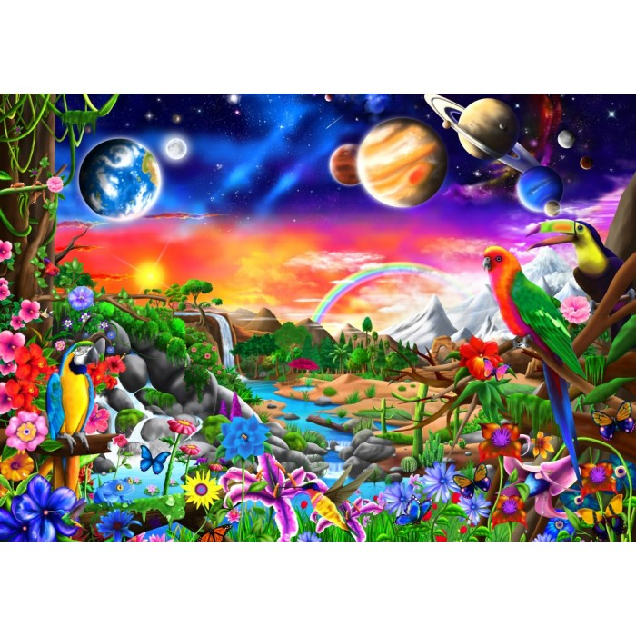 Cosmic Paradise Puzzle 1000 pieces