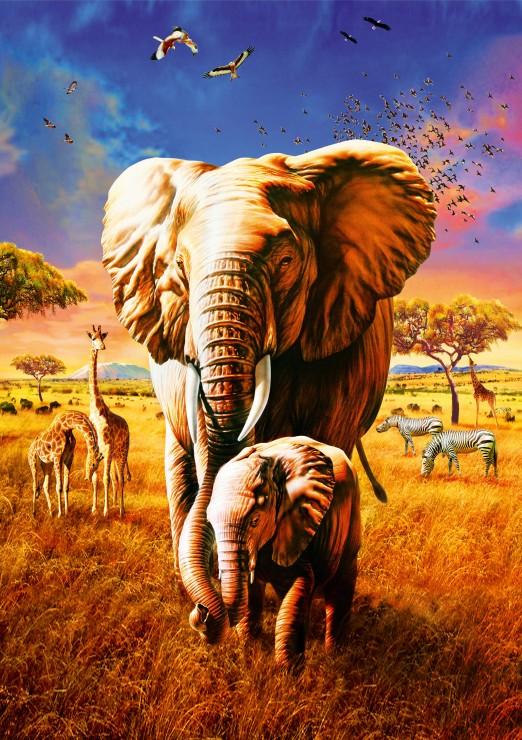 Elephant 1000 piece jigsaw puzzle