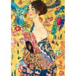 Puzzle   Gustave Klimt - Lady with Fan, 1918