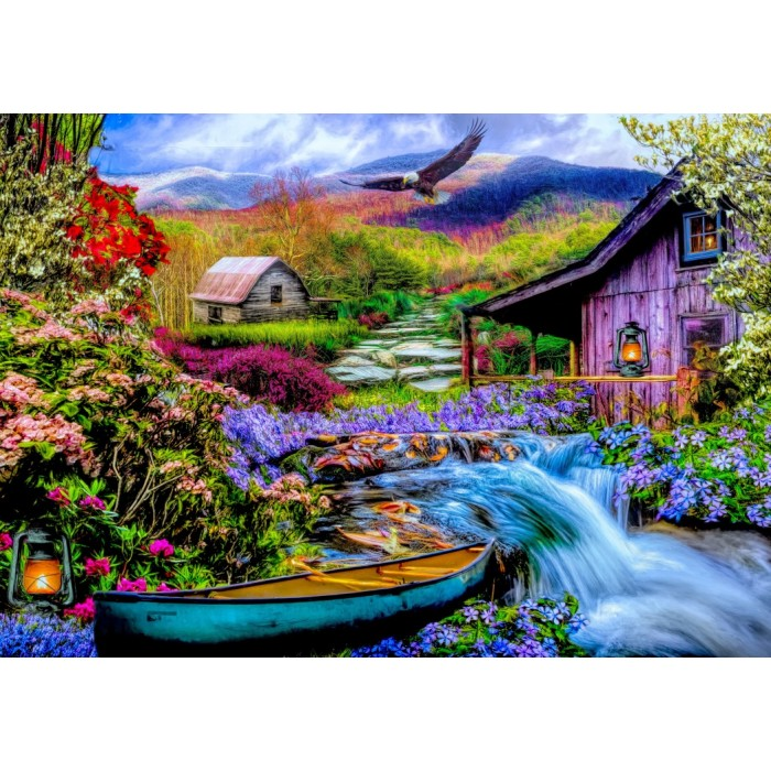 Heaven on Earth in the Mountains Puzzle 1500 pieces