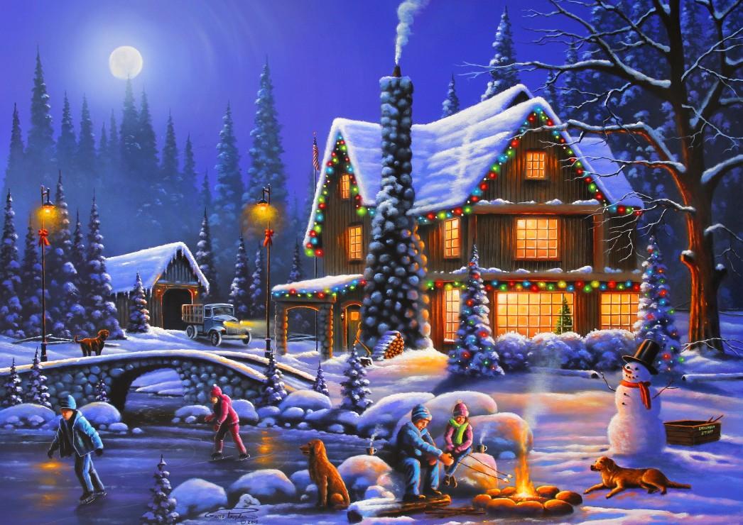 Holiday Spirit 500 piece jigsaw puzzle