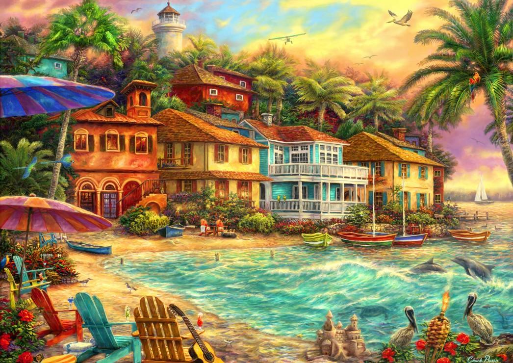 Island Time 2000 piece jigsaw puzzle