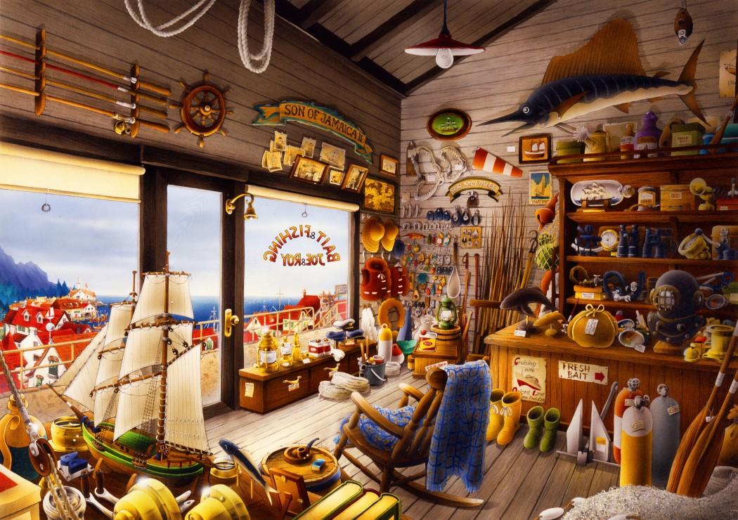 Joe & Roy Bait & Fishing Shop 1000 piece jigsaw puzzle