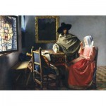 Puzzle   Johannes Vermeer - The Glass of Wine, 1661