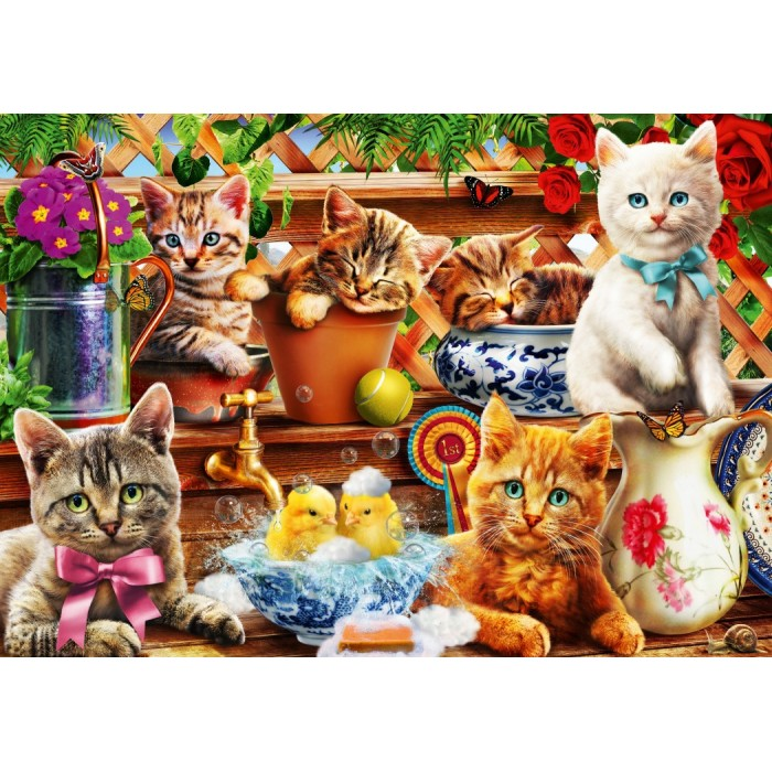 Kittens in the Potting Shed Puzzle 1000 pieces
