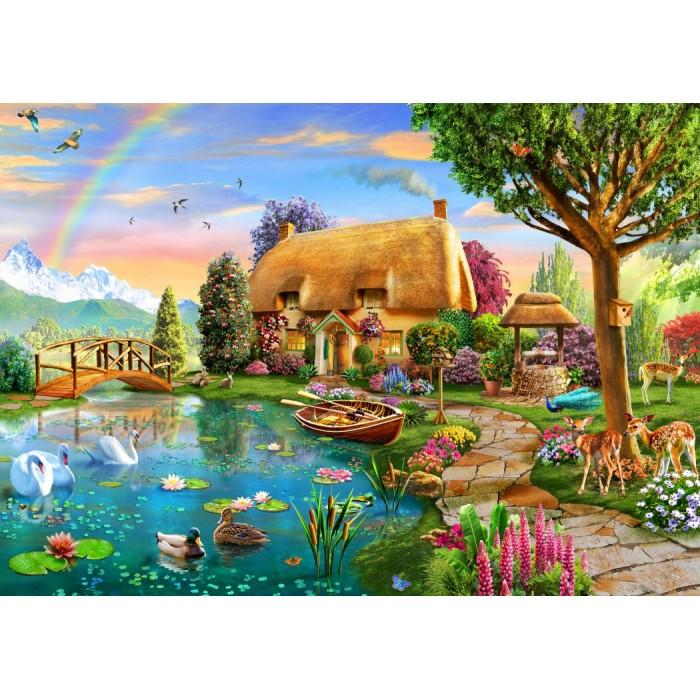 Lakeside Cottage Puzzle 1000 pieces