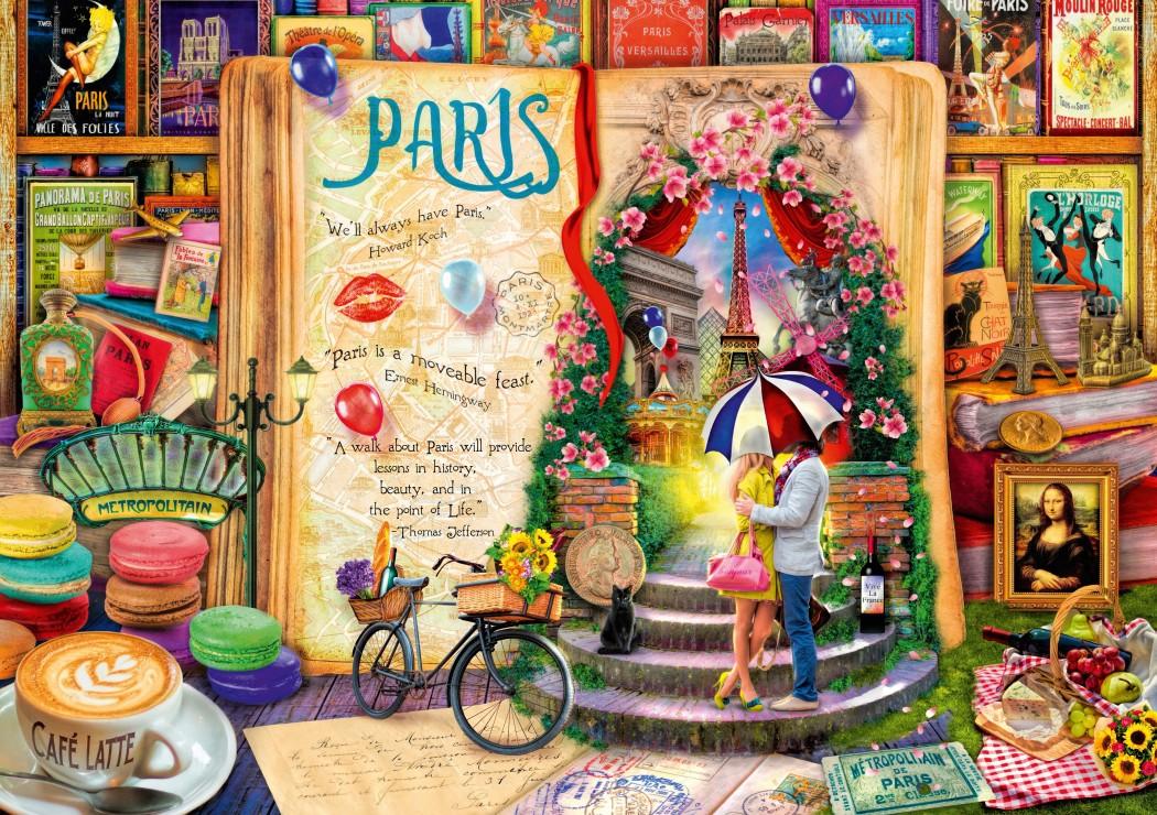 Life is an Open Book Paris 1000 piece jigsaw puzzle