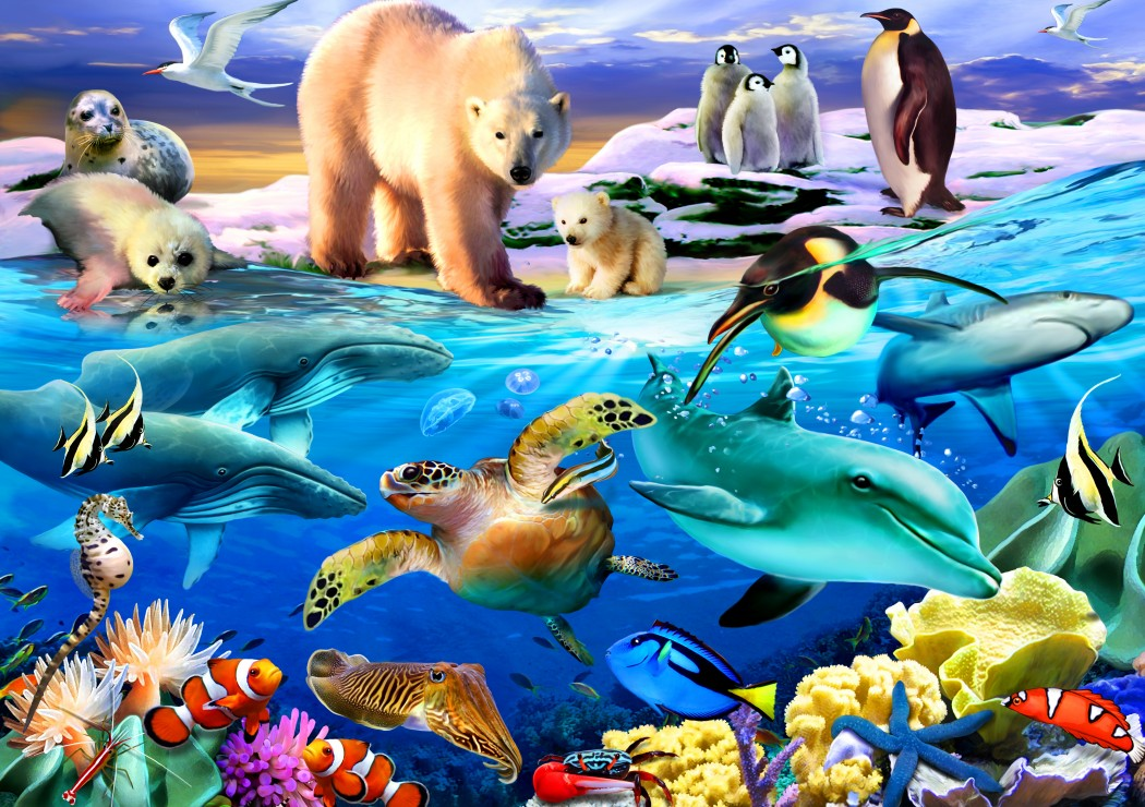 Oceans of Life 1000 piece jigsaw puzzle