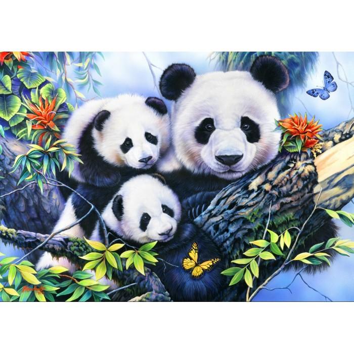 Panda Family Puzzle - 1000 pieces