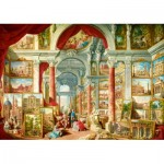 Puzzle   Panini - Picture Gallery with Views of Modern Rome, 1757