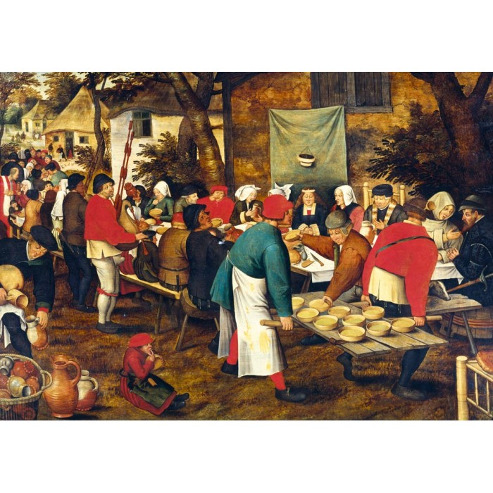 Pieter Brueghel the Younger - Peasant Wedding Feast Puzzle 1000 pieces
