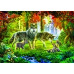Puzzle   Summer Wolf Family