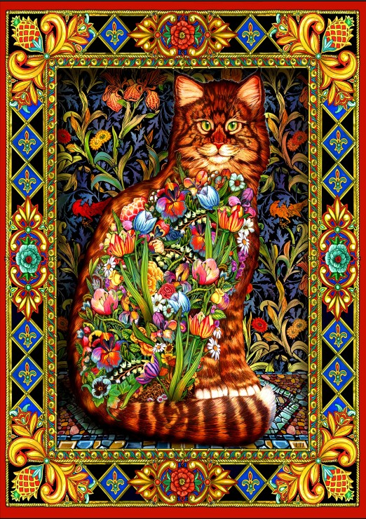 Tapestry Cat 1500 piece jigsaw puzzle