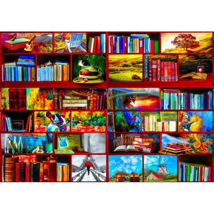 The Library The Travel Section Puzzle 1000 pieces