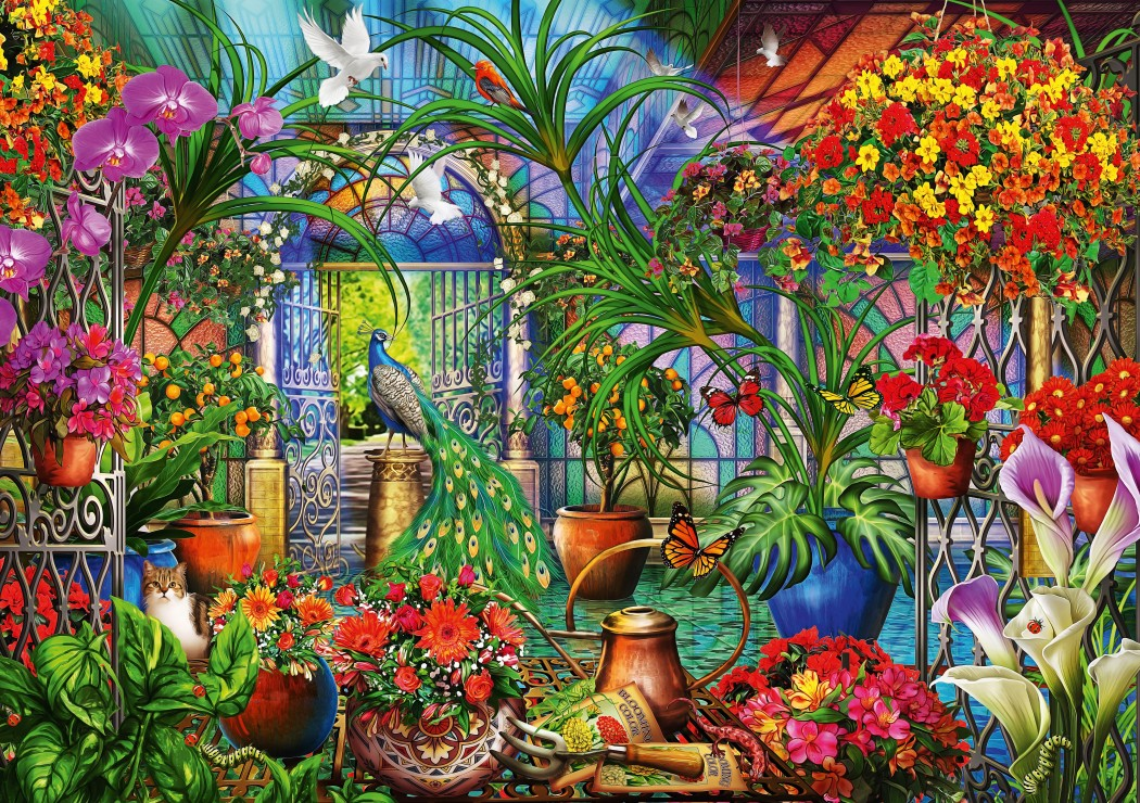 Tropical Green House 1000 piece jigsaw puzzle