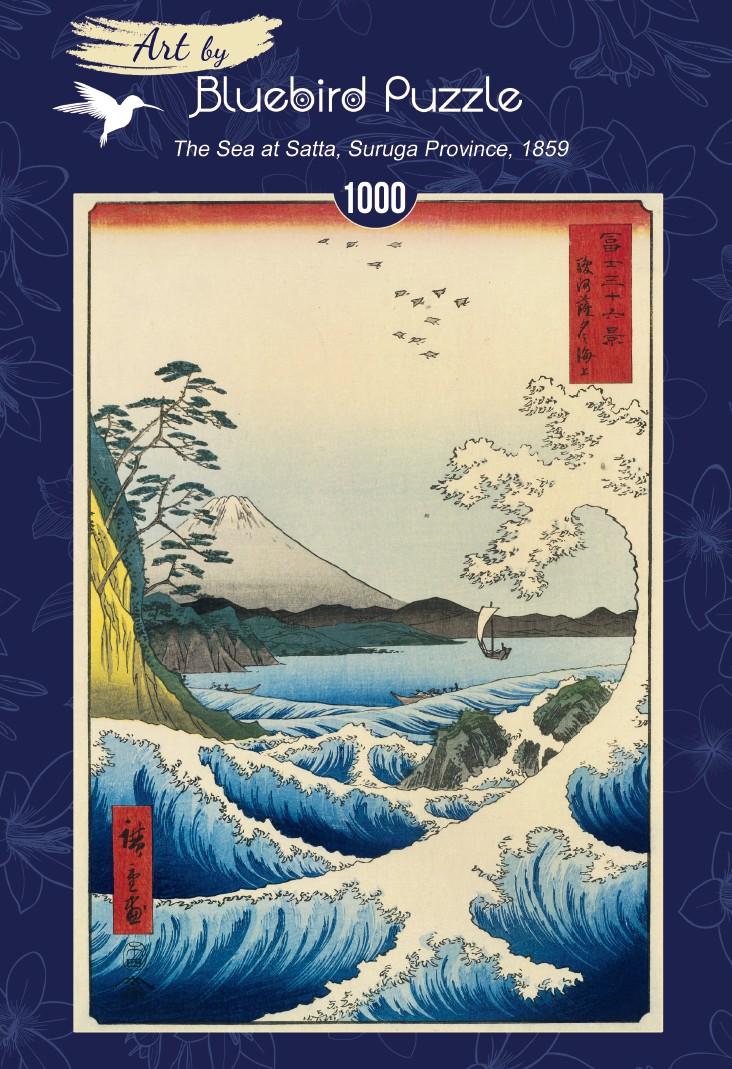 Utagawa Hiroshige - The Sea at Satta, Suruga Province, 1859 1000 piece jigsaw puzzle
