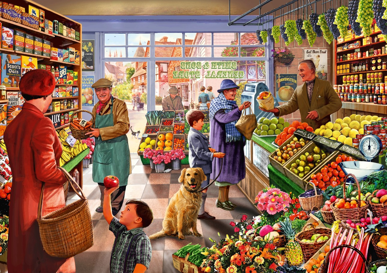 Village Greengrocer 1000 piece jigsaw puzzle