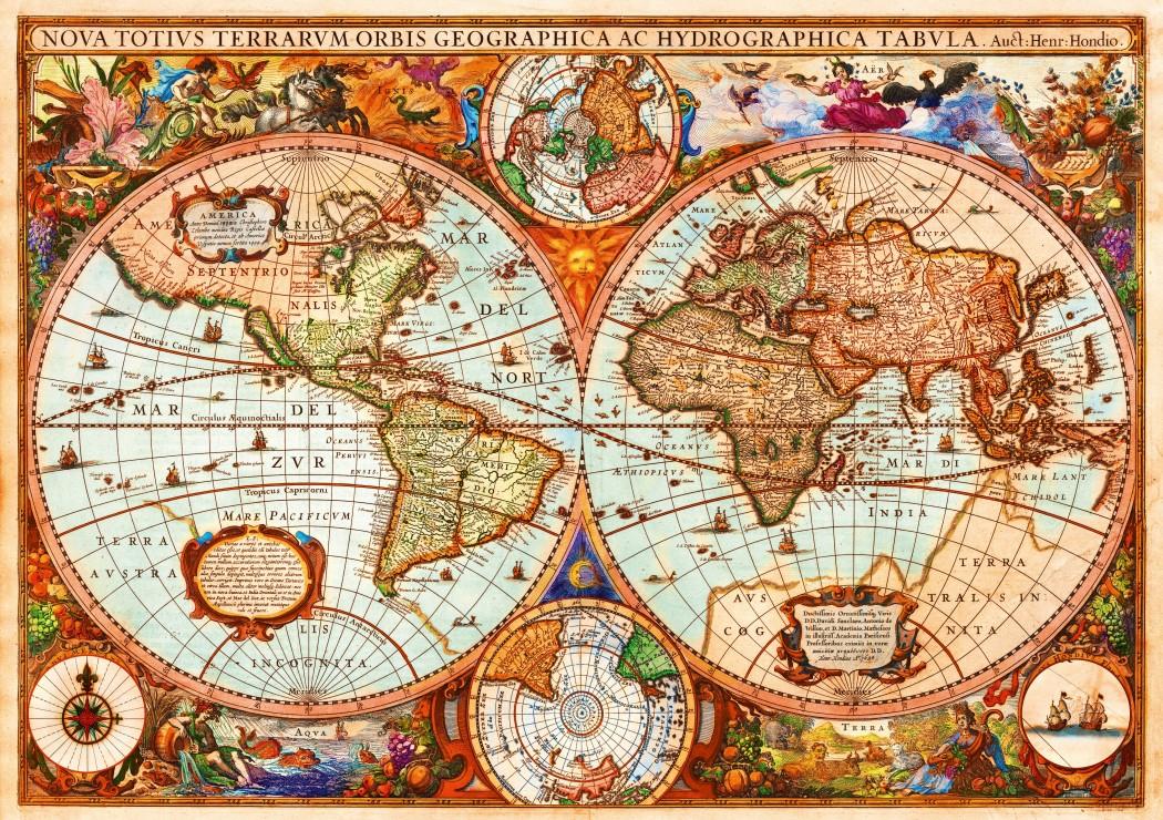 Vintage Map 1000 piece jigsaw puzzle