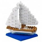 Brixies-38449020 3D Nano Puzzle - Postcard Sailboat