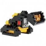 Brixies-38449139 3D Nano Puzzle - Bulldozer JCB
