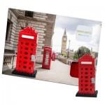 Brixies-38449200 3D Nano Puzzle - Postcard Telephone Box