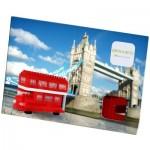 Brixies-38449201 3D Nano Puzzle - Postcard Red Double Decker Bus