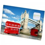 3D Nano Puzzle - Postcard Red Double Decker Bus