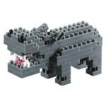 Brixies-57833 Nano 3D Puzzle - Hippopotamus