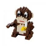 Brixies-58097 3D Nano Puzzle - Monkey