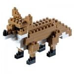 Brixies-58112 3D Nano Puzzle - Fox