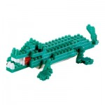 Brixies-58113 3D Nano Puzzle - Crocodile