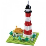 Brixies-58206 Nano 3D Puzzle - Lighthouse (Level 3)