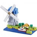 Brixies-58210 Nano 3D Puzzle - Windmill (Level 3)