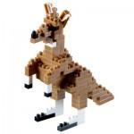 Brixies-58246 3D Nano Puzzle - Kangaroo