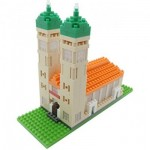 Brixies-58252 Nano 3D Puzzle - Frauenkirche (Level 3)