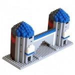 Brixies-58254 Nano 3D Puzzle - Sendlinger Tor (Level 4)
