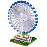 Brixies-58368 Nano 3D Puzzle - Singapore Flyer (Level 5)