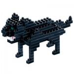 Brixies-58434 3D Nano Puzzle - Black Panther