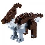 Brixies-58439 3D Nano Puzzle - Dinosaur