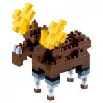 Brixies-58453 3D Nano Puzzle - Moose