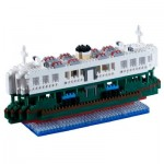 Brixies-58480 Nano 3D Puzzle - Ferry Boat (Level 5)