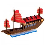 Brixies-58481 Nano 3D Puzzle - Big Junk Boat Advance (Level 5)