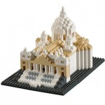 Brixies-58651 Nano 3D Puzzle - Basilica San Pietro (Level 4)