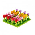 Brixies-58653 Nano 3D Puzzle - Tulips Field (Level 3)