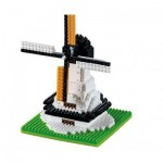 Brixies-58654 Nano 3D Puzzle - Windmill (Level 1)
