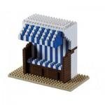 Brixies-58656 Nano 3D Puzzle - Wicker Beach Chair (Level 3)