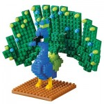 Brixies-58658 3D Nano Puzzle - Peacock